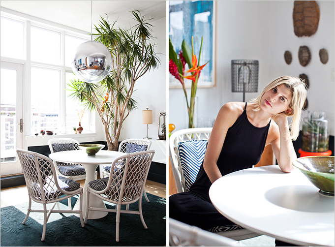 Rue Mag - AT HOME WITH: Jenny Kaplan's Tropical Oasis in Williamsburg