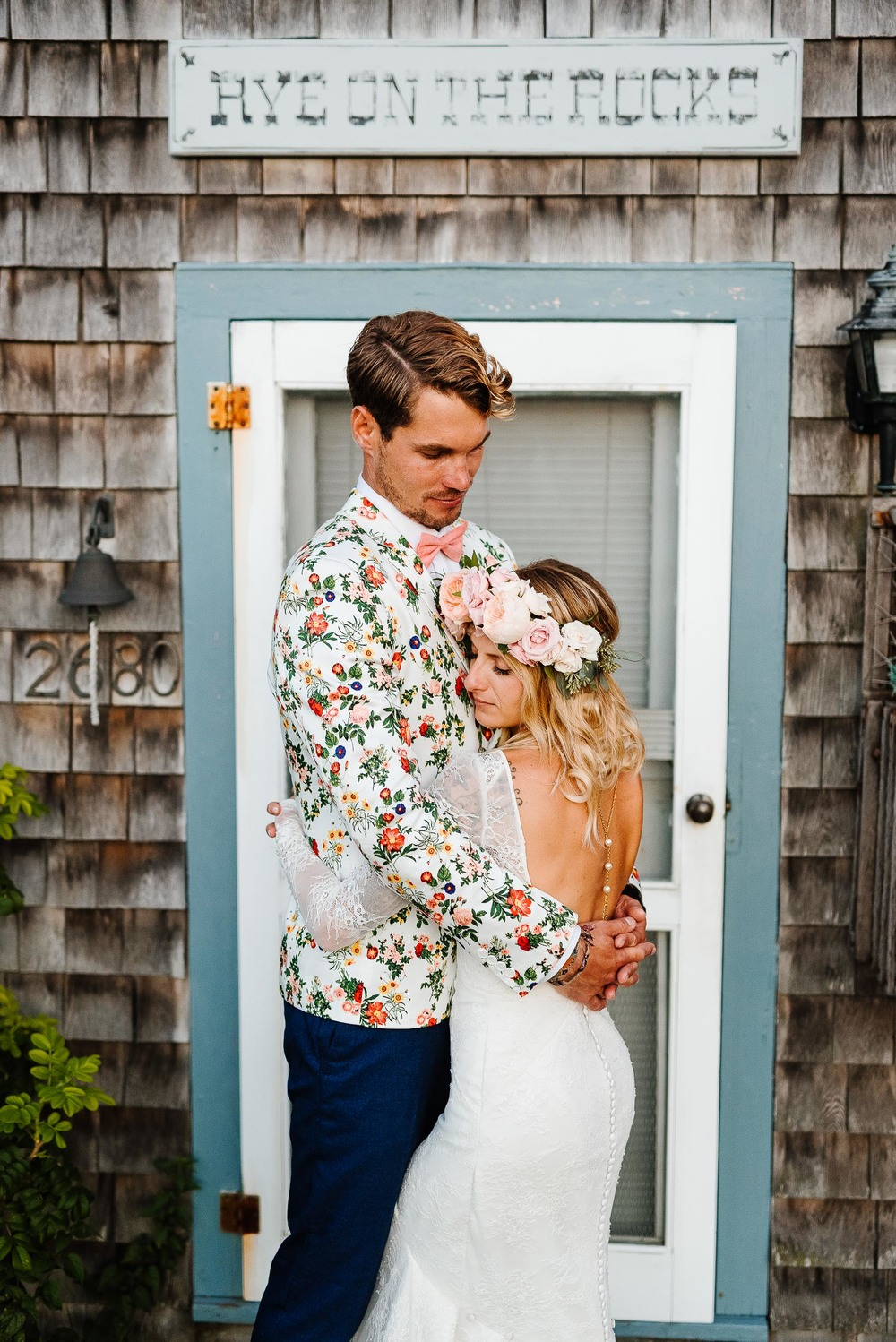 211-Bohemian New Hampshire Beach Wedding Rye New Hampshire Weddings Summer Sessions Surf Shop Longbrook Photography.jpg