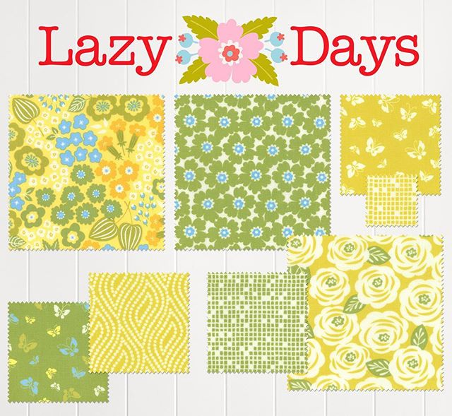The yellows and greens.  So summery! #lazydaysfabric #showmethemoda #quiltfabric #yellow