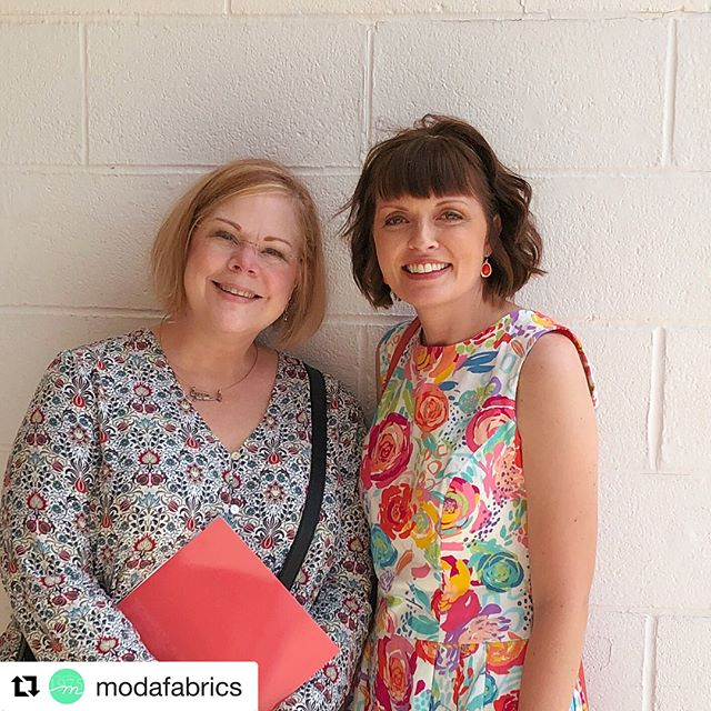So excited & nervous. Wish us luck today! #Repost @modafabrics ・・・ Gina Martin & Crystal Manning are at the Missouri Star Academy with a presentation on Color!  These two artists are collaborating to teach quilters how to Color their Stash - how Art and Science Collide when it comes to working with color.  Thank you Missouri Star - @missouriquiltco - for the amazing Academy!  For more with Gina and Crystal - @ginamartindesign & @cmanningart. . . #showmethemoda #modafabrics #modafabricsandsupplies #quilting #sewing #patchworkquilt #missouristarquiltco #missouristaracademy