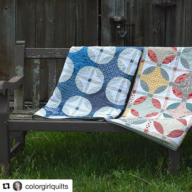 Here's another great example of thoughtful placement of lights and darks. Two looks with one pattern. @colorgirlquilts are always so fun. She's selling kits for the blue and white one. Lovely! #coloryourstash #colorvalue #Repost @colorgirlquilts ・・・ One pattern, two pretty quilts! I love it when a quilt pattern looks great in any style fabric 🤗 more on my blog today. Kits for the blue & white version available #colorgirlquilts #classiccurvesruler 🦋🦋• #aurifil #hobbsbatting #quiltedsquid #artgalleryfabrics #modafabrics • • #wearefabrics #showmethemoda #traditionalquilt #curvedpiecing #quiltlove #quiltingfriends #mycreativelife #makersgonnamake #makemodern #igquiltfest #modernquilting #ihavethisthingwithquilts #iamacolorfulquilter #sewist #sewcolorful