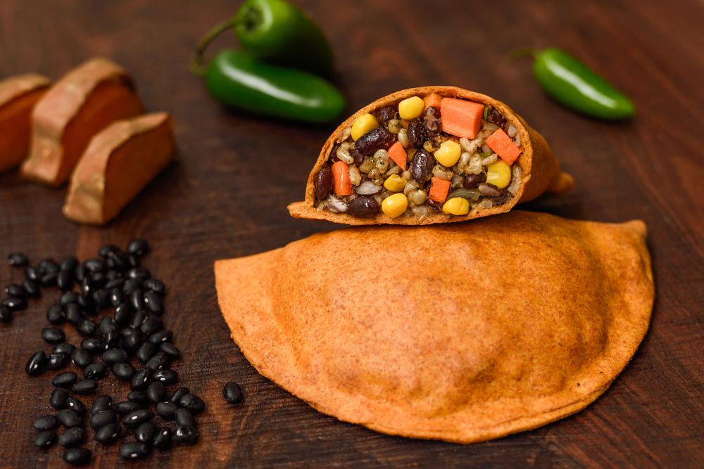 Spicy Black Bean & Cilantro Turnover