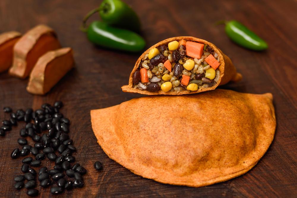Spicy Black Bean & Cilantro Turnover