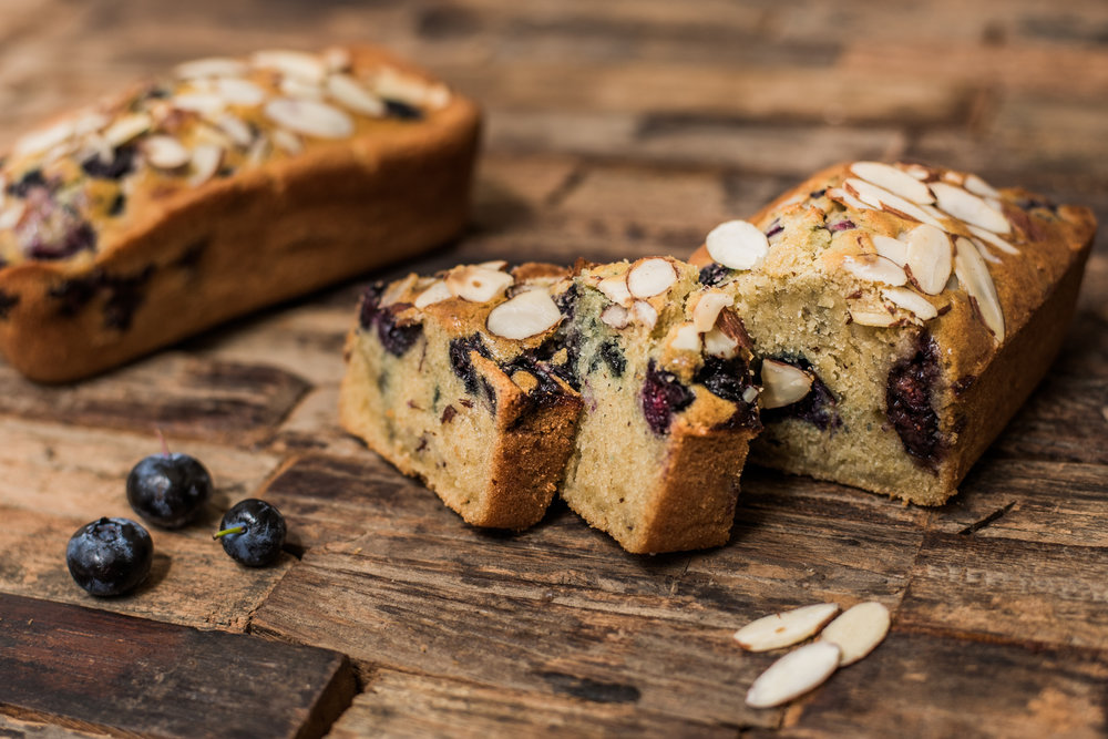 Gluten-free Blueberry Almond Tea Bread