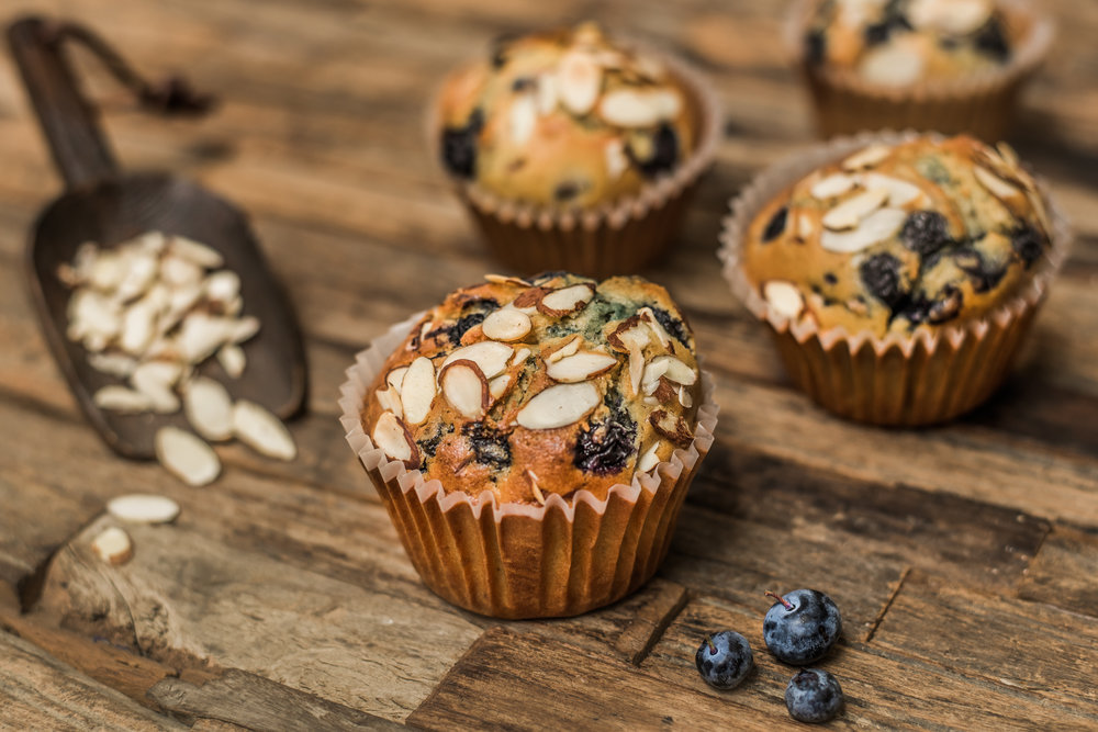 Gluten-free Blueberry Almond Muffin