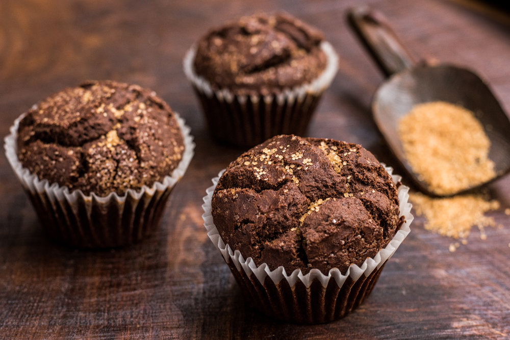 Gluten-free Chocolate Earl Grey Muffin