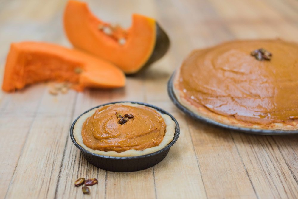 Small Gluten-free Pumpkin Sweet Potato Pie