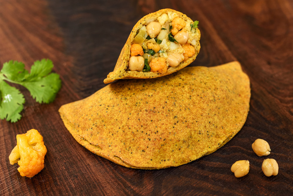Curried Chickpea & Vegetable Turnover