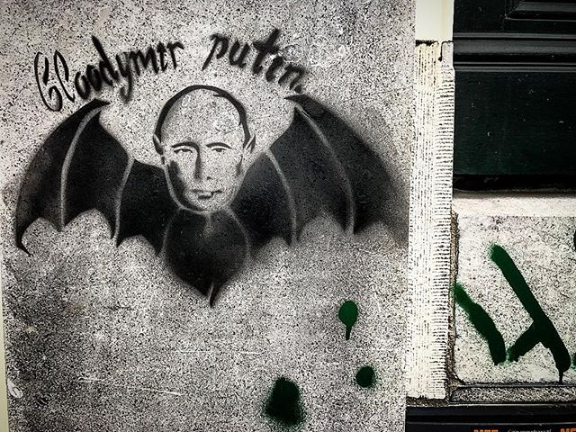 Putin #thedutch #thenetherlands #dutch #amsterdam #imagesforyoursenses #streetphotography #traveler #pictureoftheday  #streetart #graffiti #graffitiart #graffitiporn