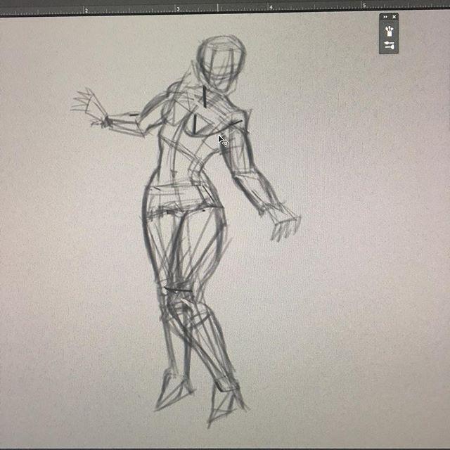 Back to basics. Anatomy studies. #anatomy #bones #muscles #conceptart #poses #posing #drawing #digitalart #fineart #study #studies