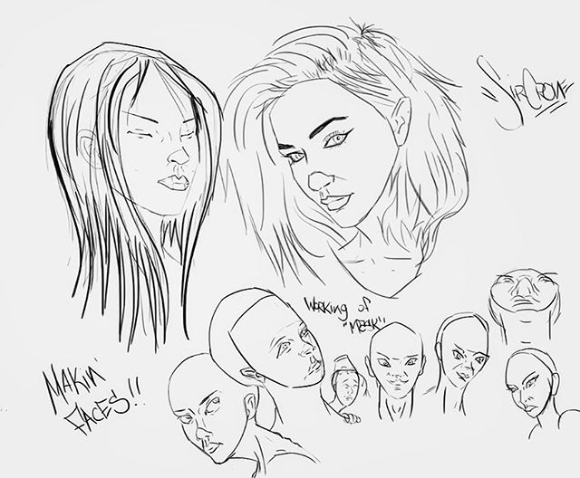 Practice practice practice. Makin faces #draw #drawing #sketch #study #studies #face #faces #drawingfaces #humanfaces #anatonystudy #fineart #linedrawing #lines #artist #digitalart #digitalsketch #notlikeapencik #intuos #wacom #tablet