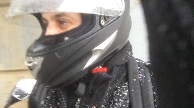 On two wheels no matter the weather #bikelife #sunrainsleetorshine #nodaysoff #motorcycle #ride #rider