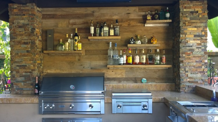 Reclaimed Wood Outdoor Bar