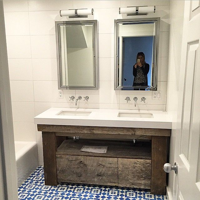 Superb Custom Designed Reclaimed Wood Bathroom Vanity