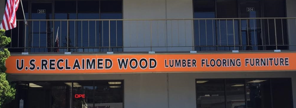Now that we are all moved in to our expanded store with more racks fully stocked with vintage lumber, a larger showroom to showcase our reclaimed wood flooring & wood works selections it was time for a bigger & better sign to match or bigger & better store!   Look for U.S. heading north on Camino Capistrano on the right after the Avery Pkwy Freeway exit right next to Enterprise Rental!