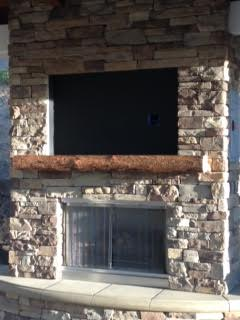 Hi Ben & Bethany  Here's our beautiful mantle!   We love it!  We will certainly be back for a coffee table for this outdoor space.  Thank you for an amazing job!  Have a very blessed Christmas! Paula and Randy Garcia