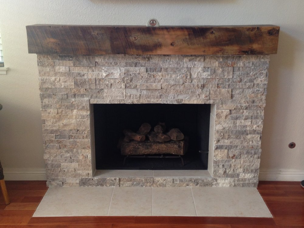 This mantel is a box beam made out of U.S. Reclaimed Wood. The reclaimed wood box beam is hollow on the inside and can be used to cover or replace old mantels and beams. Using reclaimed wood to build a box beam creates a one of a kind and custom piece. The customers who chose the lumber for this reclaimed wood box beam found the wood that stood out and is perfect for their fireplace mantel! Visit U.S. Reclaimed, Vintage Lumber & Wood Works to pick the pieces that will create a custom reclaimed wood box beam for your home.