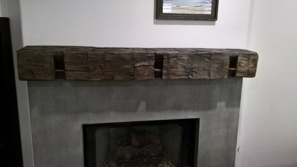 U.S. Reclaimed, Vintage Lumber & Wood Works offers several options for updating fireplace mantels. Reclaimed wood mantels bring solid character and history to any home. The mantel pictured above is a barn beam piece with notches that were hand cut in the 1800's. Visit or contact the store to get started on a vintage mantel for your fireplace.