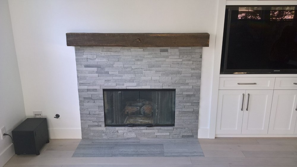 Reclaimed Barn Beam Mantel