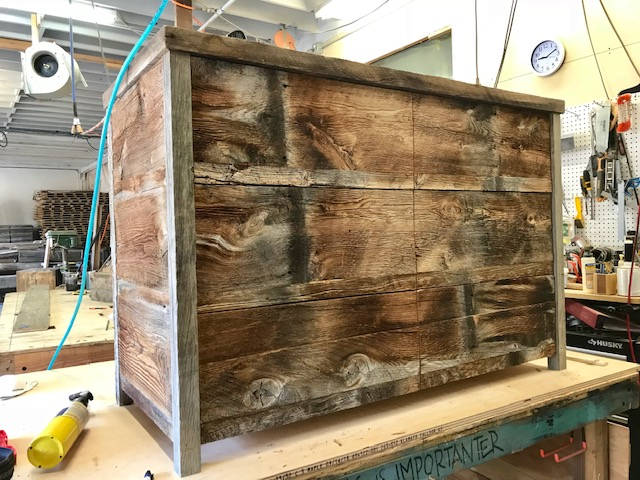 Our latest project! Custom dresser made out of beautiful reclaimed lumber from Montana.