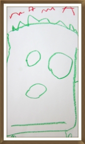 A portrait of the teacher created by her daughter
