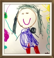 A portrait of the teacher by one of her students