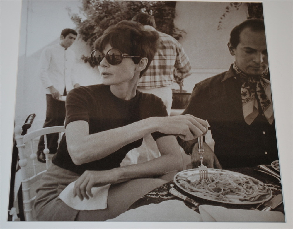 Oscar pictured with the very glamourous Audrey Hepburn - Courtesy of Oscar PR Girl
