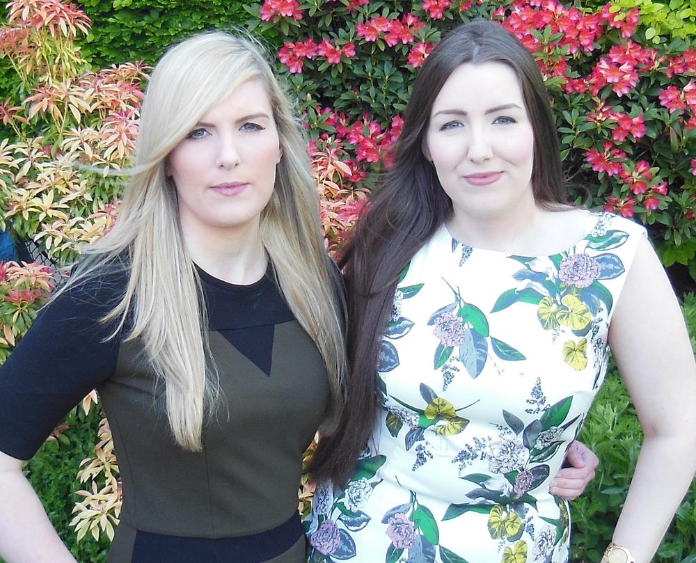 Leanne (left) and Stephanie (right) in their garden in Edinburgh, Scotland