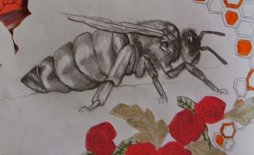 The Original Drawing of The Queen Bee From Leanne's Sketch Book