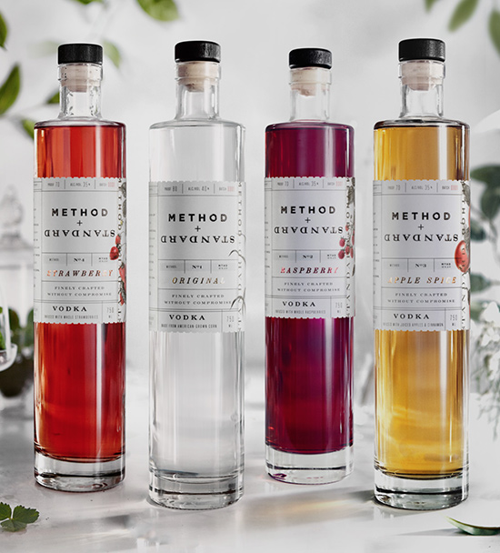 "We collaborated with the Method + Standard creators to help them build their brand based on the idea that ""their Method creates the Standard"" for Vodkas. This allowed for us to be clever with how the story was expressed. M  ore of this project can be viewed here."