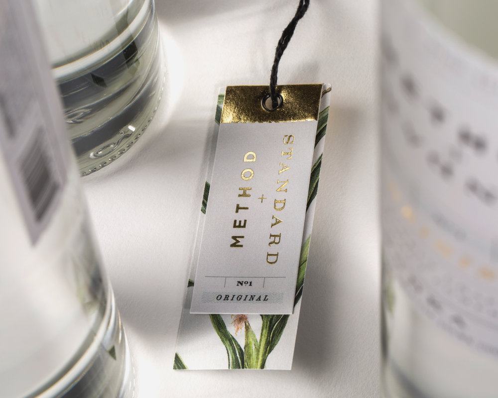 Bottle swingtags expand the experience with tasting notes and house-created recipes.