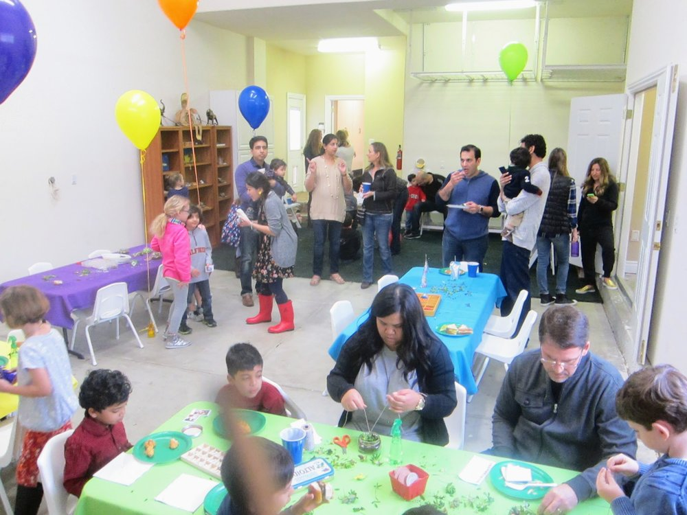 rainy day indoors birthday party