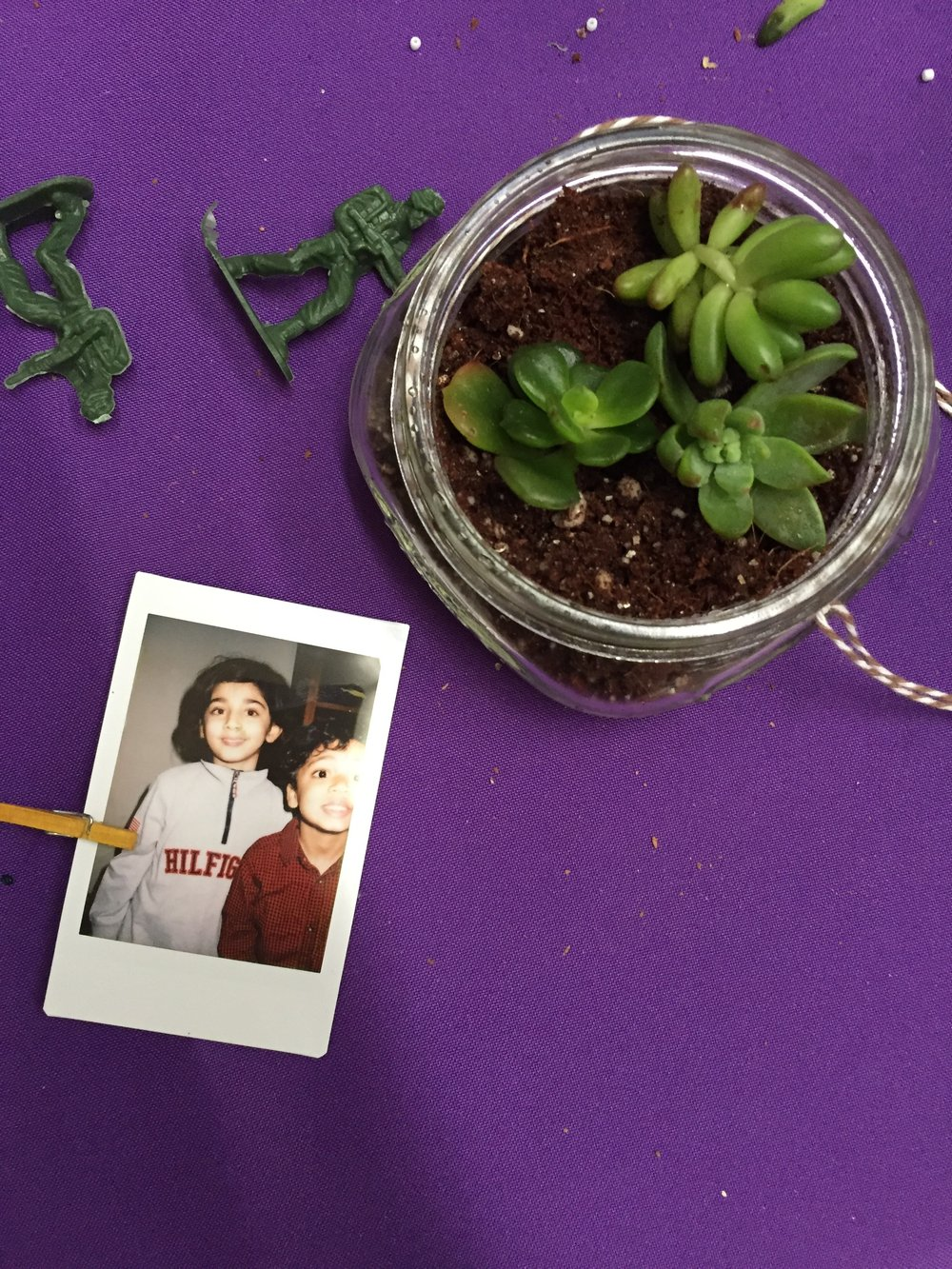 polaroid and plant party favor