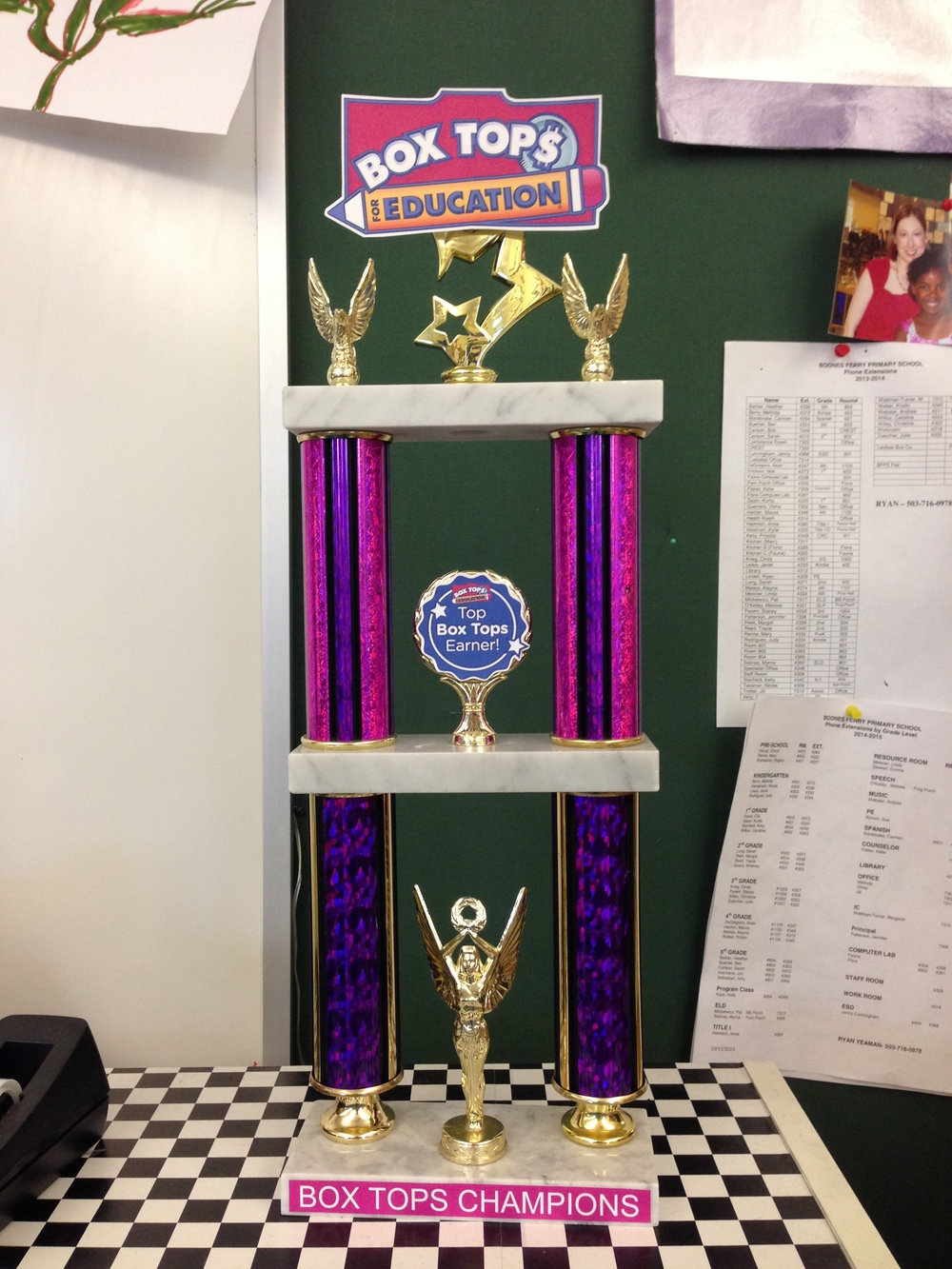 OUR NEW TRAVELING TROPHY AWARDED TO THE WINNERS OF THE CONTESTS!