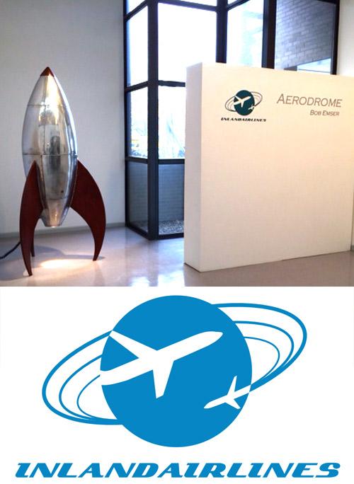 Heuser Art Gallery at Bradley University / Airline Logo by Nicole Blackburn