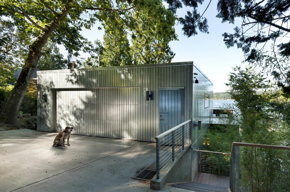 Custom metal clad garage