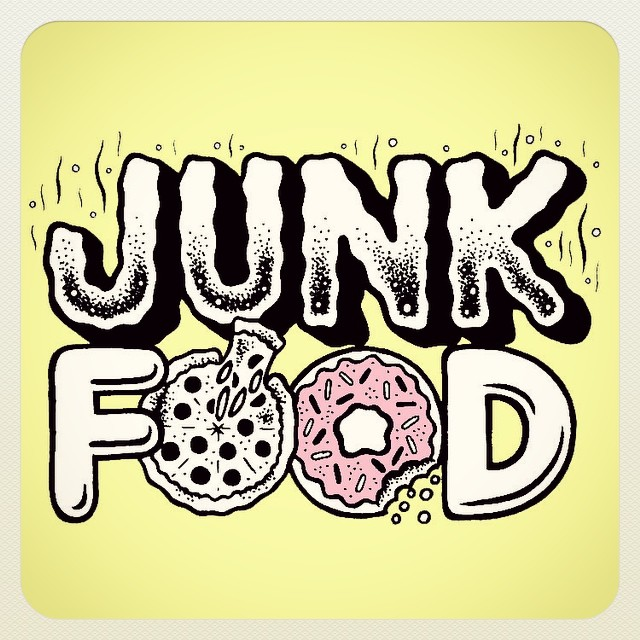 nightwatchzine: Announcing that the NEXT issue of NIGHT WATCH ZINE will be themed… THE JUNK FOOD ISSUE!!!!! Coming at yuh in October! Quarterly for Quality 👌#thejunkfoodissue #junkfood #nightwatchzine #nightwatchstudios #zine Junk Food letter art by @tallboy666 (at NIGHT WATCH STUDIOS)