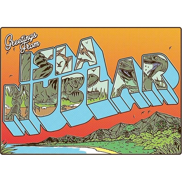 nicobassez: #postcard #bestreet #retromovies #sosh #greetingsfrom #jurassicpark #illustration