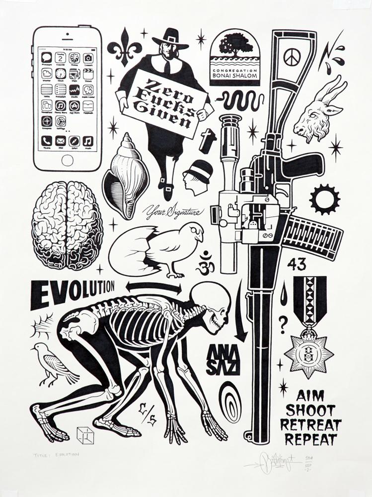 """originalgiantcontent: """"Evolution"""", 2014."""