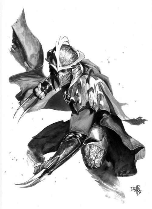 imthenic: Shredder illustration by Gabriele Dell'Otto - Geek Art. Follow back if similar.-