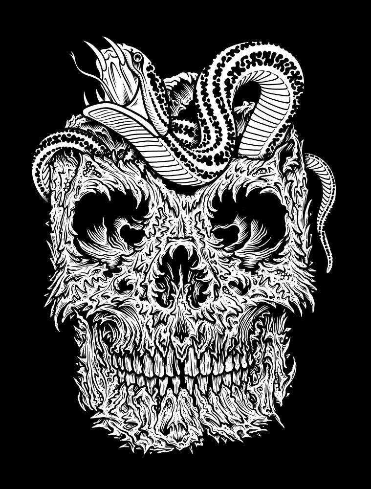 originalgiantcontent: I called this one Creepy Skull.