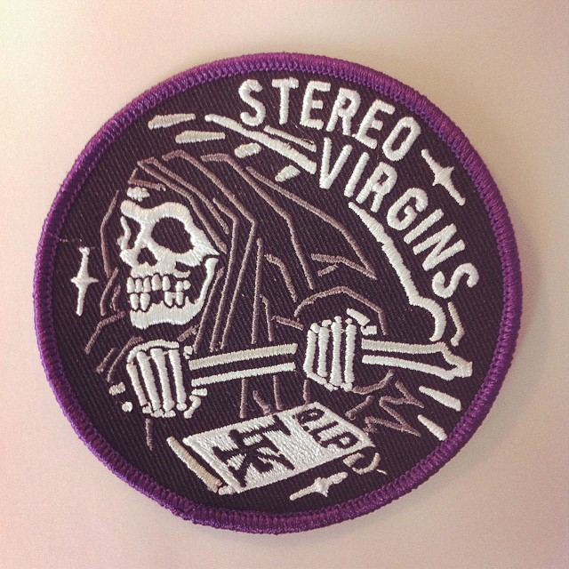daggersforteeth: I secretly made the @stereovirgins guys a small amount of the charity patches with a purple border. Lyam loved a bit of purple and with all the charity work those guys are up to it's only right they should have something to keep.