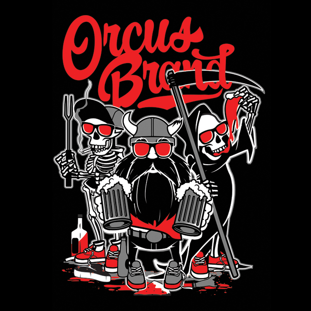 Say hello to the new gang. Three shirts designed by Matthew Skiff, Edgar Regalado and Old Dirty Dermot.  Also giving away free Orcus Brew mouse pads with every order. Only this week so get on it while you can. http://www.orcusbrand.com/