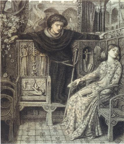 Hamlet and Ophelia, by Dante Gabriel Rossetti.