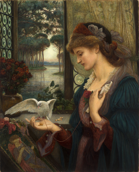 Love's Messenger, 1885. Marie Spartali Stillman