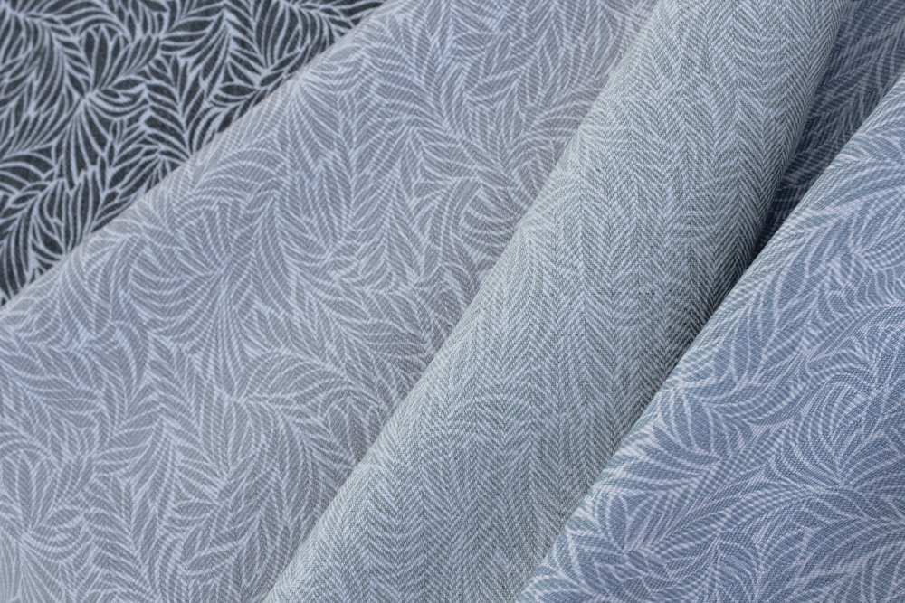 """Adare"", inspired by Ireland's Adare Manor, is printed on a herringbone linen for added texture and interest."