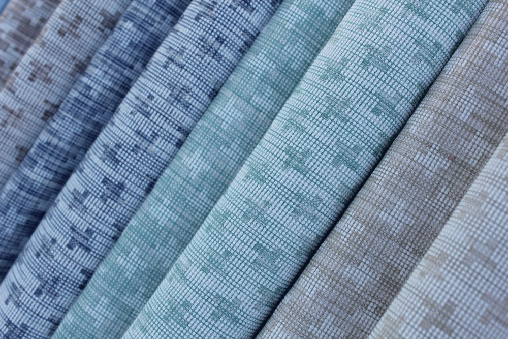 "Named after the posh street in London, ""Curzon Street"" is a reversible woven strie with a subtile houndstooth design."