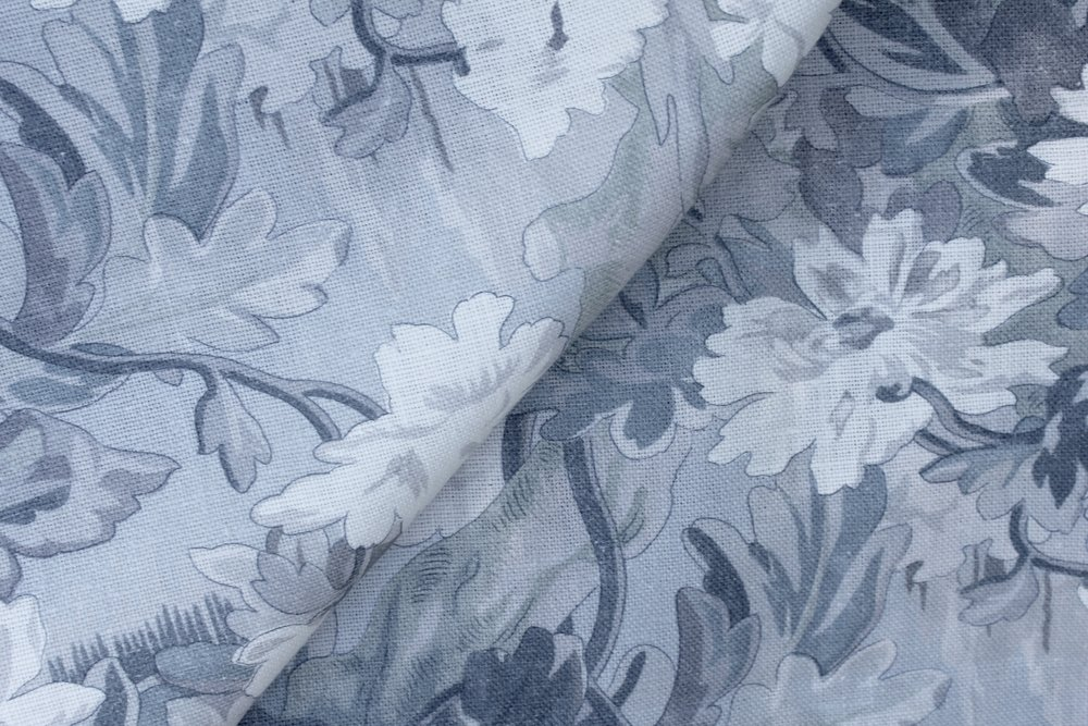 Savannah  This classic print is being offered in a new slate blue tonal colorway.