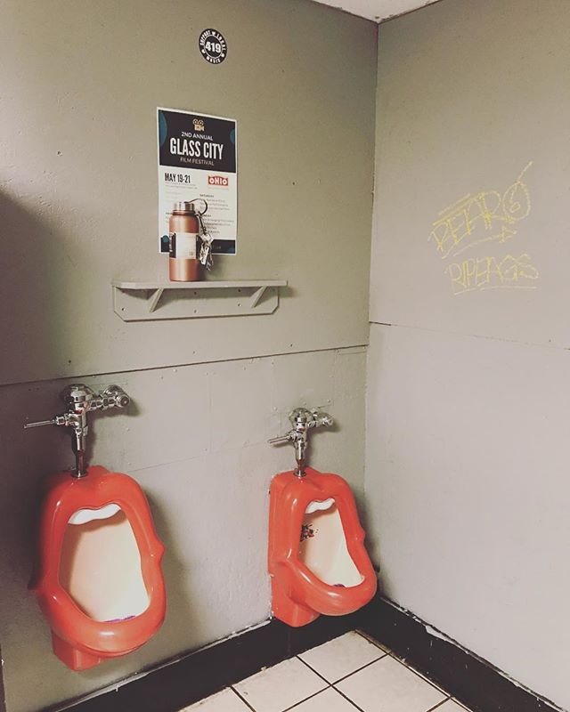 Gonna miss seein all sorts of weird bathrooms like this... we're at Empire tonight in Portland, ME w/ Acadia, Hours North & more!