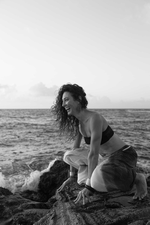 goddess beach ocean morning